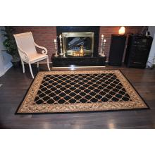 160 X 233 Classy All Over Design Traditional Rug With Detailed Border