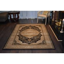160 X 233 Evergreen Mahi Design Black & Cream Traditional Rug