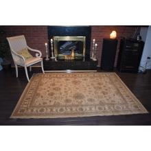 160 X 233 Gorgeous Nepali All Over Design Cream Traditional Rug